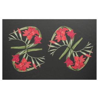 Botaniska Gladiola blommar blom- tyg