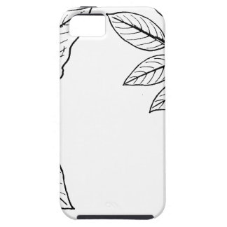 Botaniska löv för vintage iPhone 5 hud