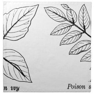 Botaniska löv för vintage tygservett