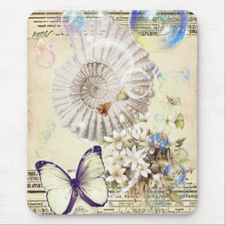 botaniskt bröllop för romantisk snäckskalfjäril mus matta