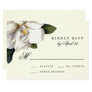 Botaniskt bröllop OSAkort för sydlig Magnolia 8,9 X 12,7 Cm Inbjudningskort