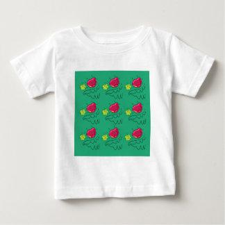 Botaniskt räcka den målade designen med ro t-shirt