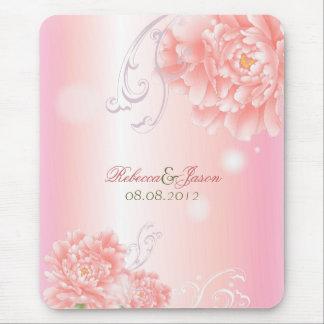 Botaniskt rosa pionbröllop för vår mus matta