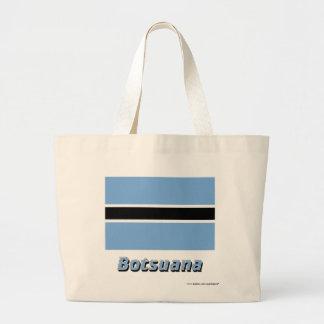 Botsuana Flagge mit Namen Tote Bag