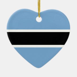 Botswansk flagga julgransprydnad keramik