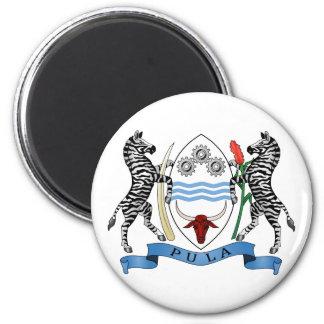Botswansk vapensköldmagnet magnet rund 5.7 cm