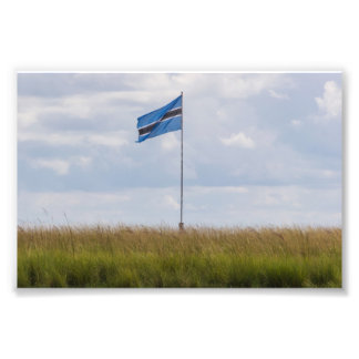 Botswanskt flaggafototryck fototryck