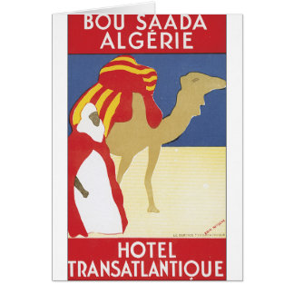 Bou Saada Algerie vintage resoraffisch Hälsningskort