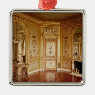 Boudoiren av Marie-Antoinette dekorerade i 1785 Silverfärgad Fyrkantigt Julgransprydnad