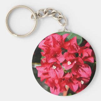 Bougainvilleaen blommar Keychain Rund Nyckelring