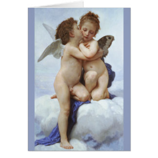 Bouguereau kysser först kärlekpsykebarn CC0073 Hälsningskort