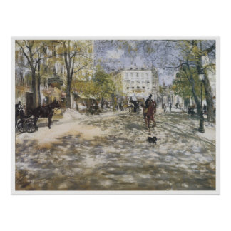Boulevard i Paris, Jean-Francois 1888 Raffaelli Poster