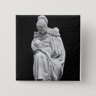 Boulonnaise kvinna som matar henne barnet standard kanpp fyrkantig 5.1 cm