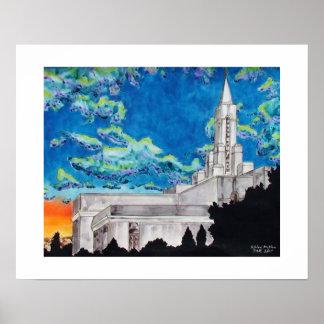 Bountiful tempel för LDS Poster
