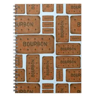 Bourbon kexanteckningsbok anteckningsbok med spiral