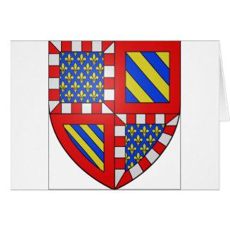 Bourgogne (frankrike) vapensköld hälsningskort