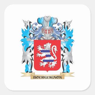 Bourguignonvapensköld Fyrkantigt Klistermärke