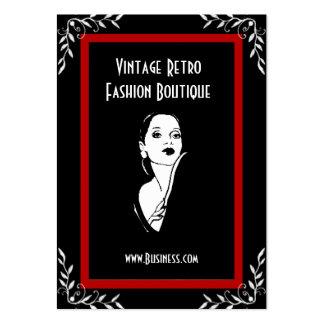 Boutique 3 för mode för visitkortvintage Retro Visit Kort