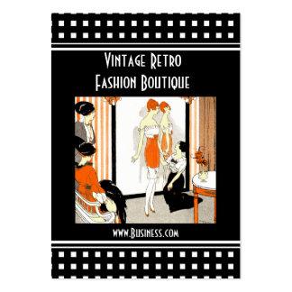Boutique för mode för visitkortvintage Retro Visit Kort