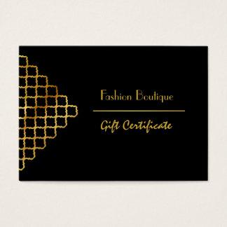 Boutique- och skönhetsalongpresentkort visitkort