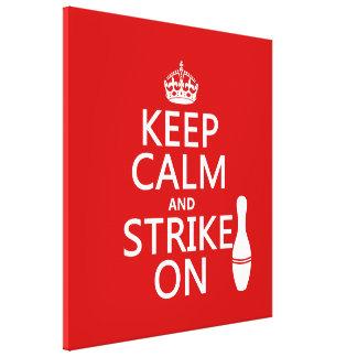 Bowla - behållalugn och strejka på canvastryck