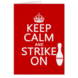 Bowla - behållalugn och strejka på hälsningskort