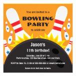 Bowla partyinbjudan med bowlingklotet