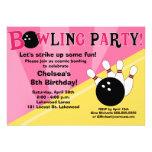 Bowla partyinbjudan - rosor och gult