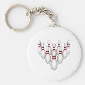 Bowla stift: 3D modellerar: Rund Nyckelring