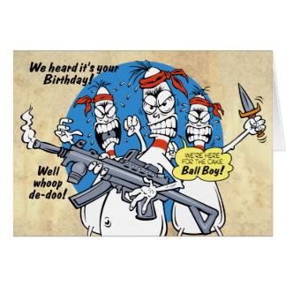 Bowla stifthämndfödelsedag hälsningskort