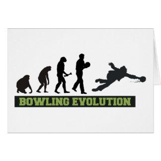 Bowlingevolutionkastare Hälsningskort