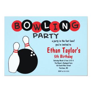 Bowlingfödelsedaginbjudan 12,7 X 17,8 Cm Inbjudningskort