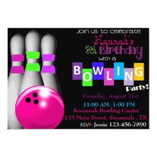 Bowlingfödelsedagsfest inbjudan
