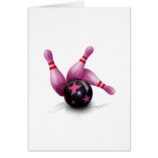 Bowlinglag - boll och stift hälsningskort