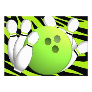 Bowlingneongrönt och sebra