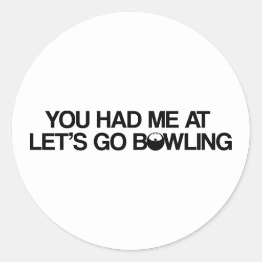 Bowlingprodukter Rund Klistermärke
