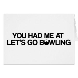 Bowlingprodukter Hälsningskort