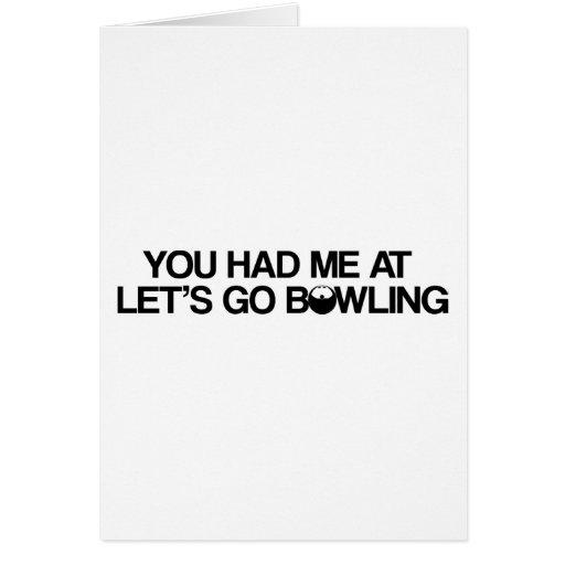 Bowlingprodukter Hälsnings Kort