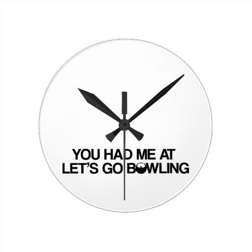 Bowlingprodukter Vägg Klocka