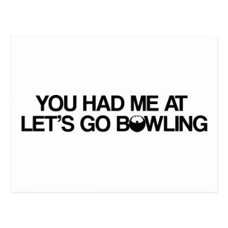 Bowlingprodukter Vykort