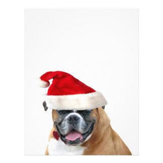 Boxare med en Santa hatt