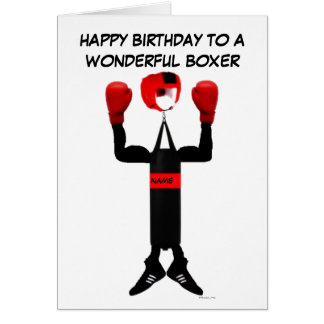 Boxarefödelsedagtecknad Hälsnings Kort
