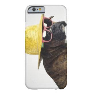 Boxarehund med hatten och exponeringsglas barely there iPhone 6 fodral