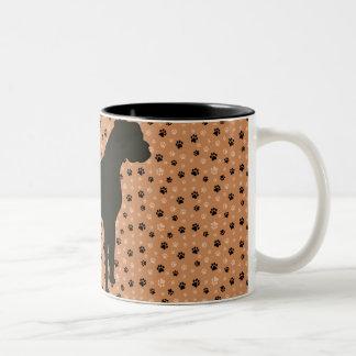 Boxarehunden Sillhouette Två-Tonar kaffemuggen Två-Tonad Mugg