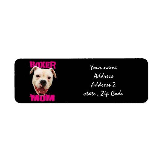 Boxaremammahund Returadress Etikett