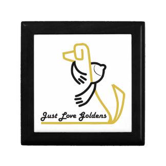 Boxas älskar den högvärdiga gåvan för den guld- re prydnadslådor