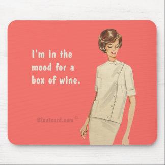 boxas av vin musmattor