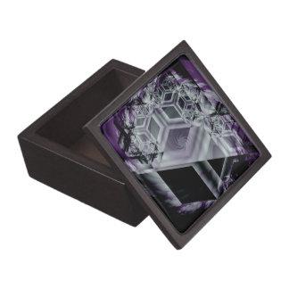 Boxas den högvärdiga gåvan för den purpurfärgade t premie prydnadslådor