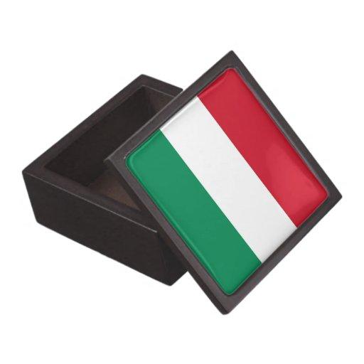 Boxas den högvärdiga gåvan för den ungerska flagga premie prydnadslådor