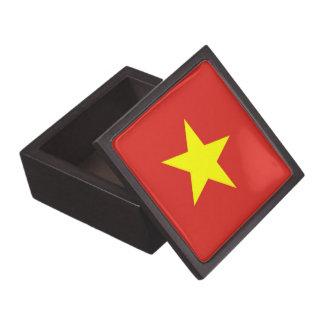 Boxas den högvärdiga gåvan för den Vietnam flagga Premie Smyckeskrin